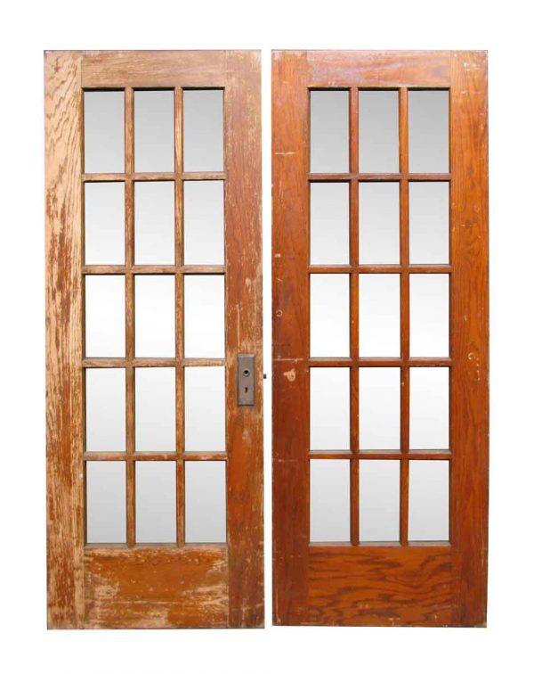 Pair of Fifteen Lite French Doors - French Doors