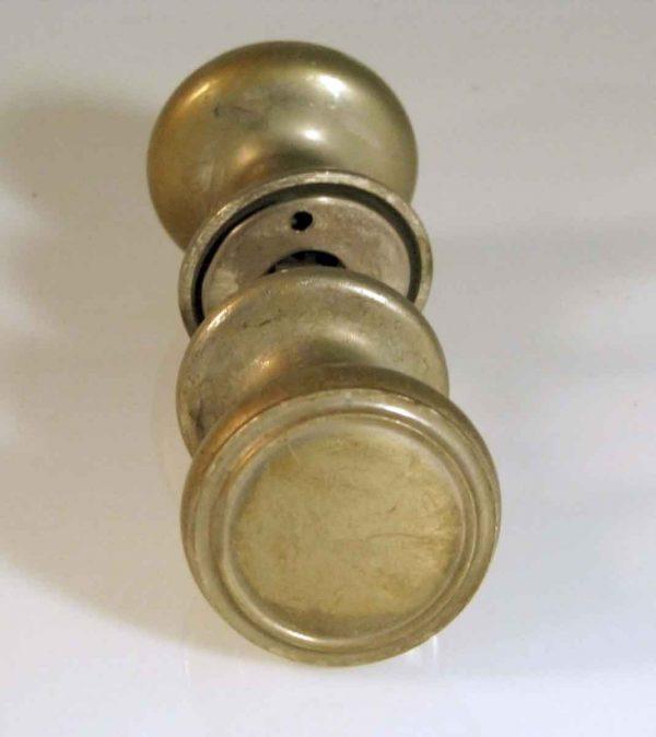 Nickel Over Bronze Concentric Circle Knob Set - Door Knob Sets