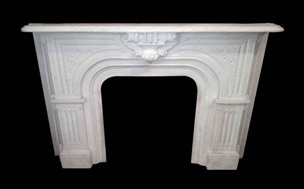 Exquisite NYC White Marble Mantel - Mantels