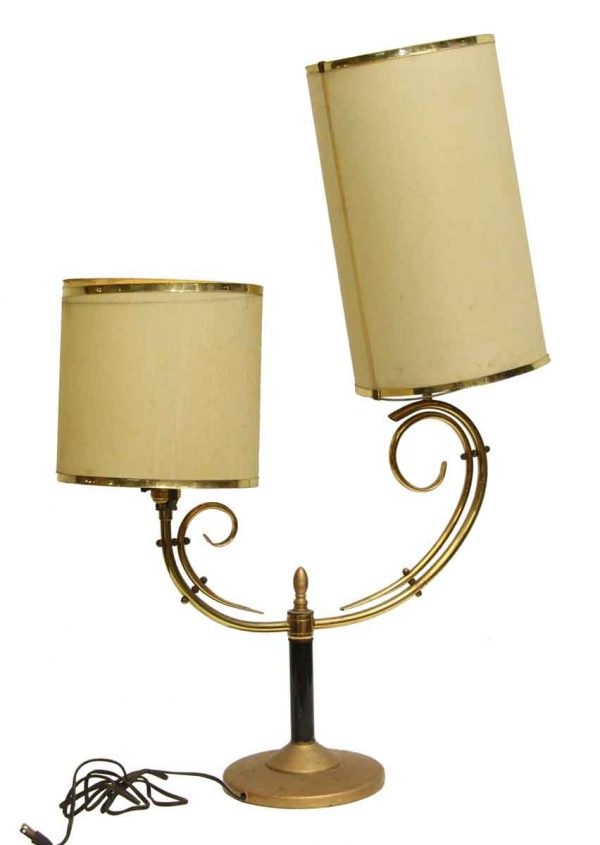 Single Two Arm Mid Century Table Lamp - Table Lamps