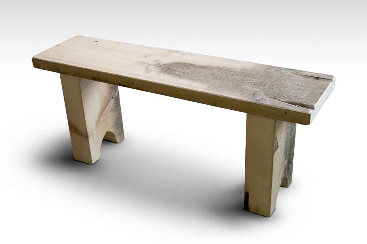 Rustic White Pine Farm Table Bench