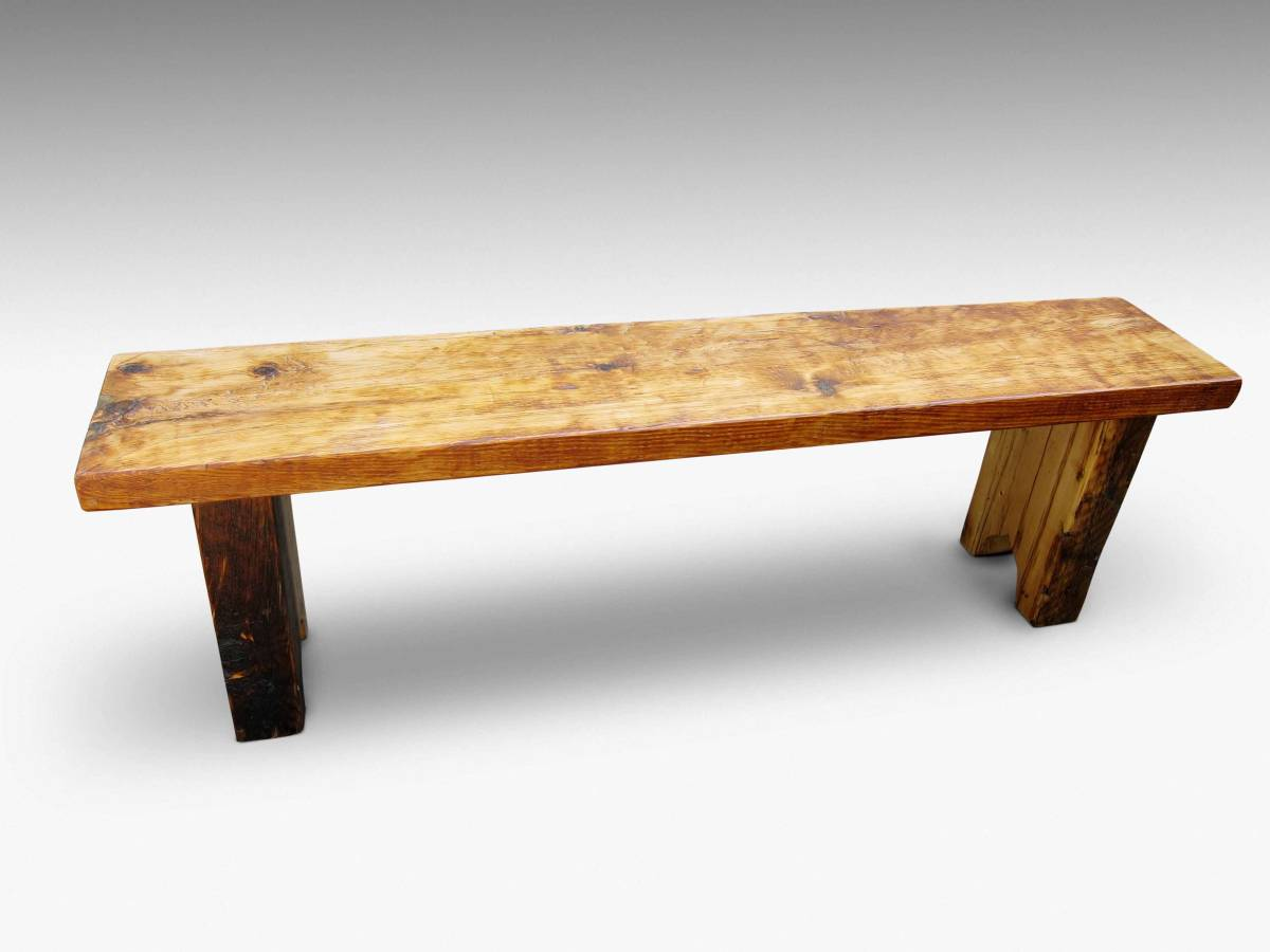 Reclaimed White Pine Five Foot Bench Olde Good Things