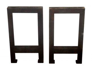 Amazing Terrific Set Of Cast Iron Industrial Table Legs