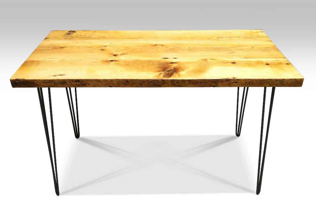 Delightful Farm Table With 1950s Style Hairpin Legs