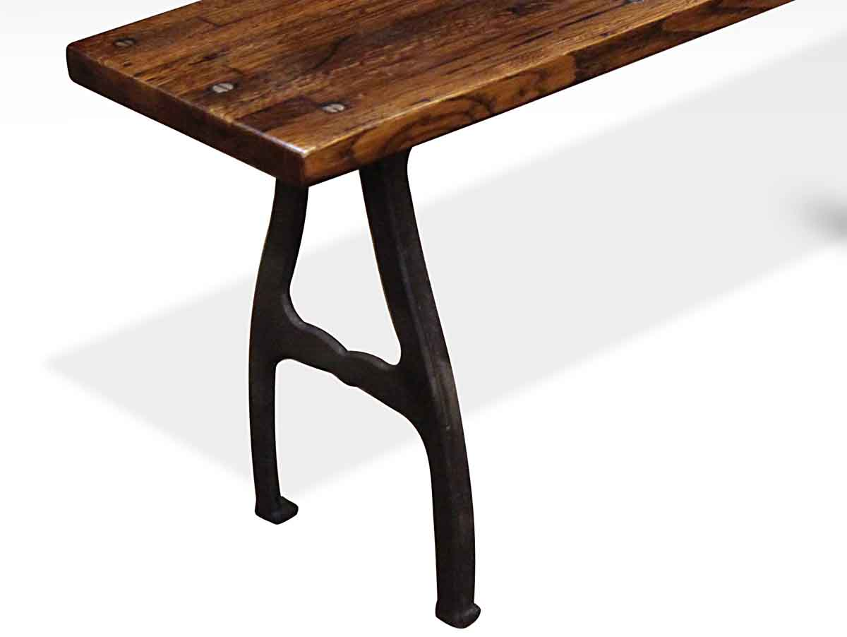 Industrial Flooring Bench With Cast Iron Legs Olde Good