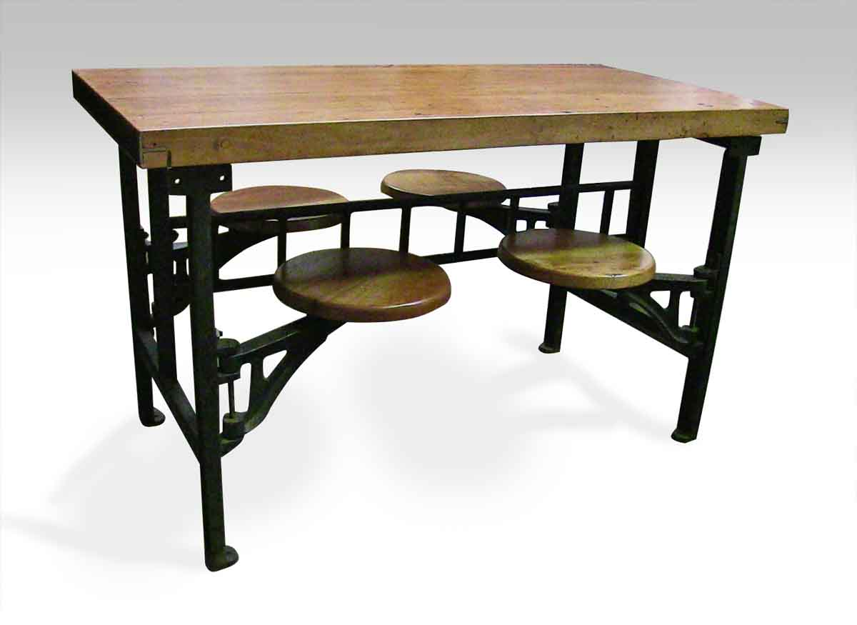 Swing Table four seat swing seat industrial factory table | olde good things