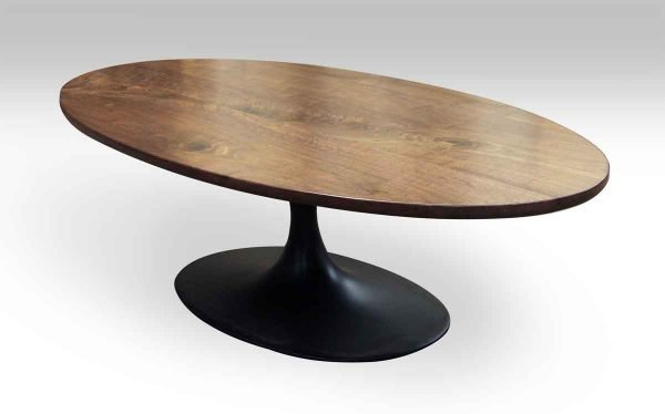 Solid Walnut Oval Coffee Table