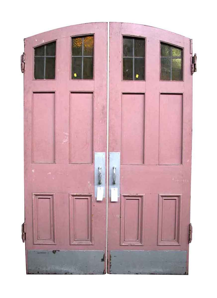 Pair of Arched Top Entry Antique Double Doors - Pair Of Arched Top Entry Antique Double Doors Olde Good Things