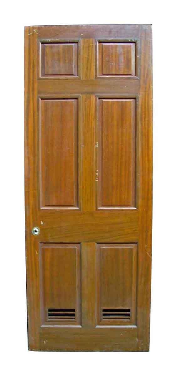 Reclaimed Antique Mahogany Veneer Door - Reclaimed Antique Mahogany Veneer Door Olde Good Things