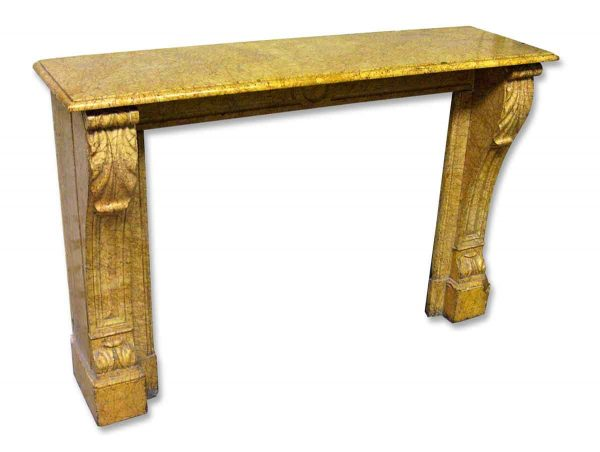 Petite Yellow Antique Marble Mantel