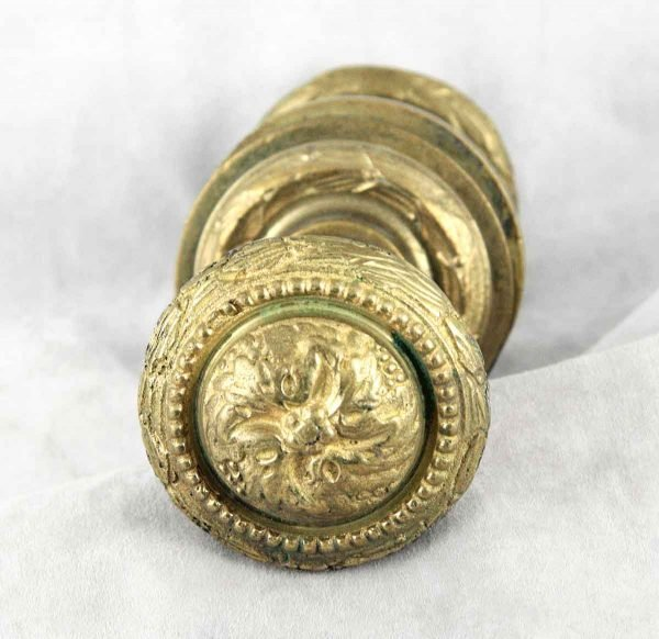 Swirl Antique Doorknobs with Rosettes