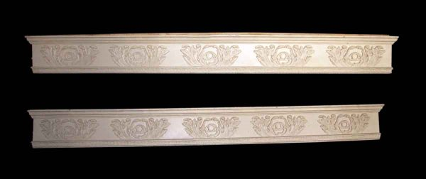 Salvaged Ornate White Window Molding