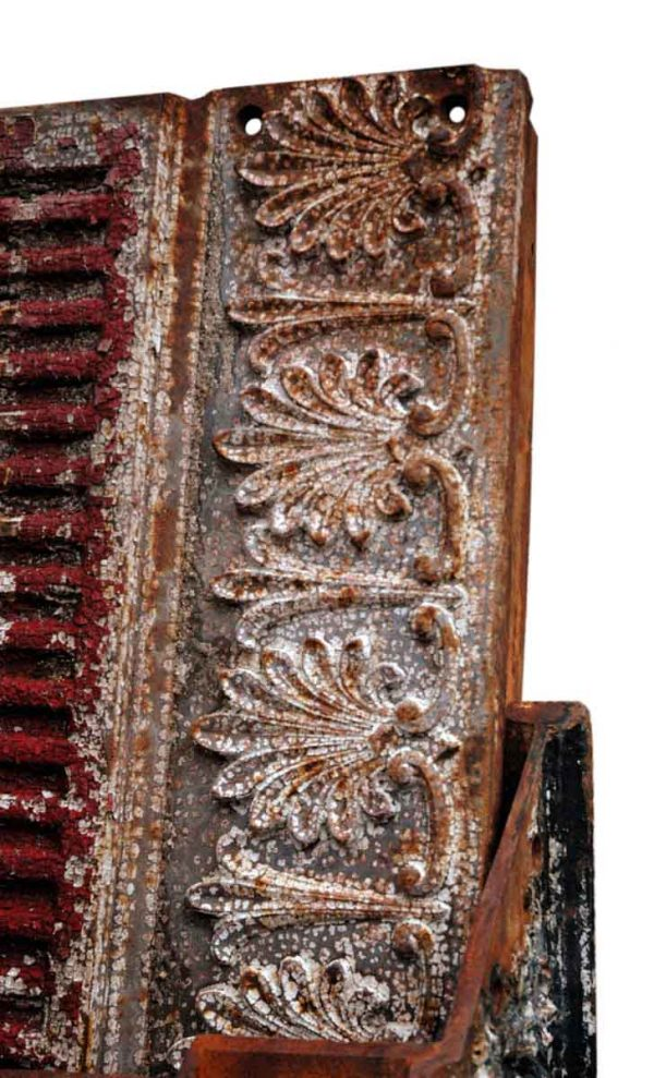 Ornate Cast Iron Building Trim with Fleur de Lis