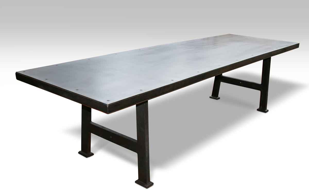 Industrial Steel Top Table Olde Good Things