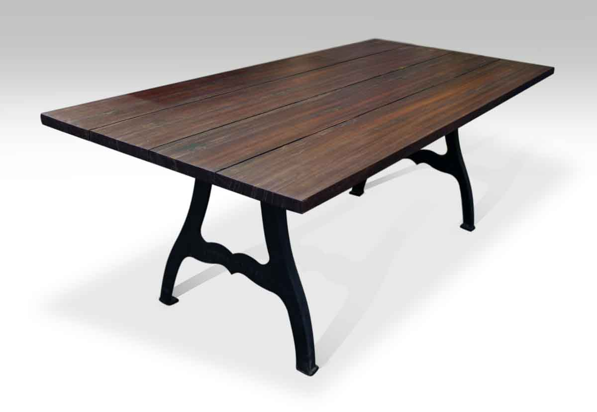 Exceptional South Street Seaport Ipe Table With NYC Industrial Legs