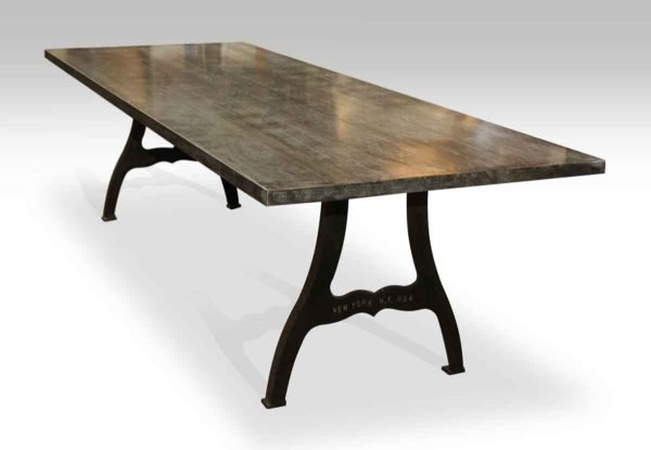 Galvanized Steel Table with New York Industrial Legs