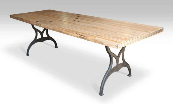 Bowling Alley Table with Arrows & Brooklyn Legs