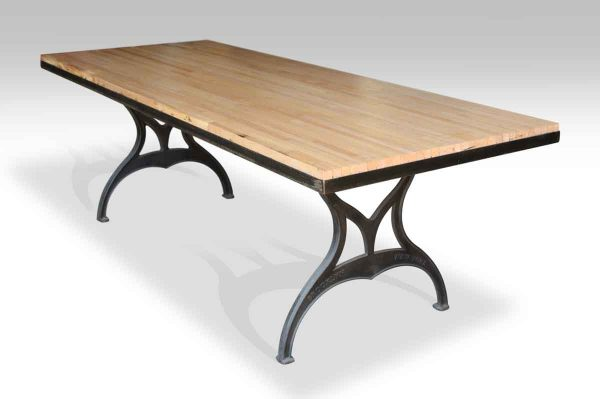 Bowling Alley Table with Brooklyn Legs & Metal Edge