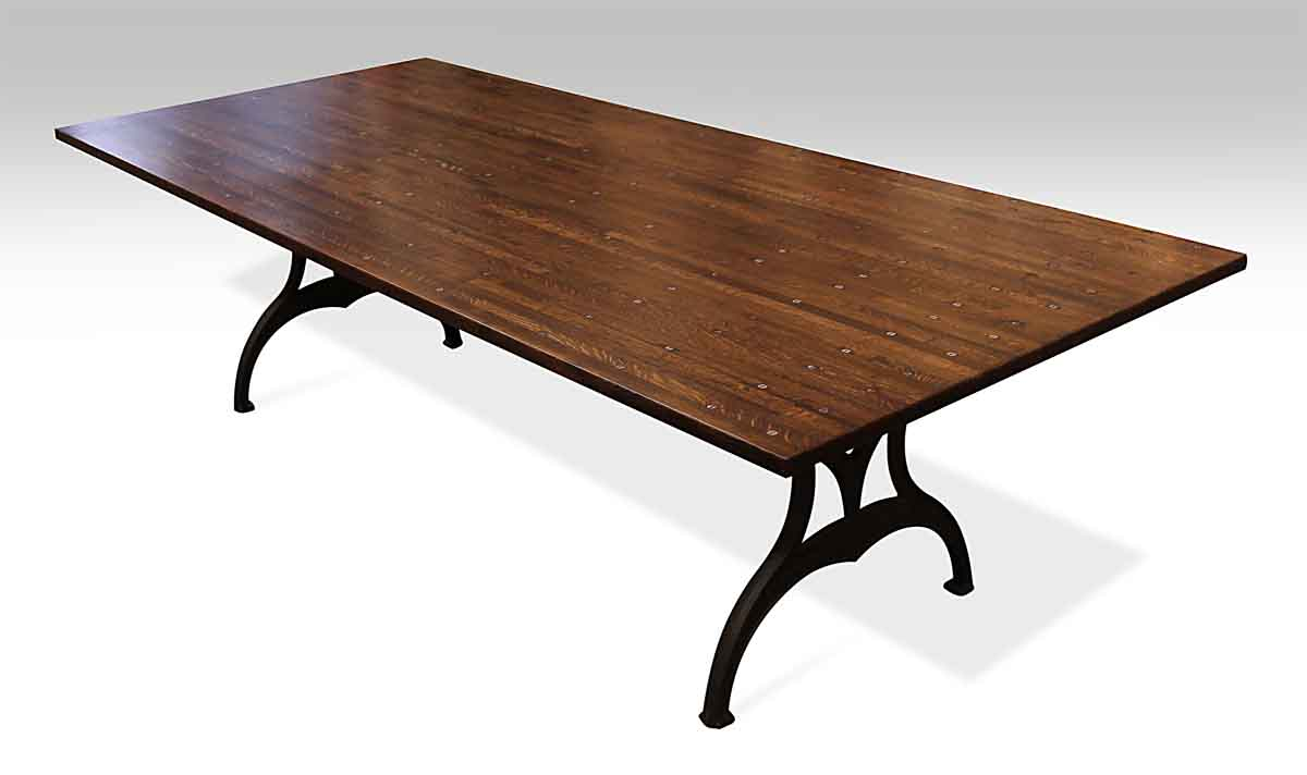 Amazing Industrial Flooring Table With Brooklyn Cast Iron Legs