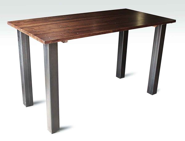 Industrial Flooring Bar Height Table with Metal Square Legs