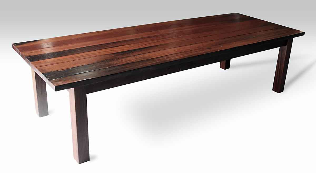 Ordinaire Ipe Wood Plank Farm Table With Square Legs