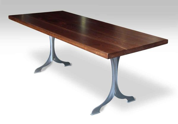 Walnut Top Table with Wishbone Legs