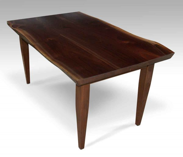 Live Edge Walnut Top Table with Tapered Legs