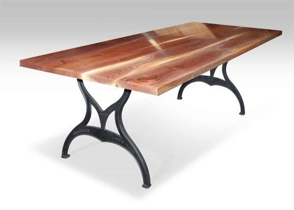 Walnut Top Table with Brooklyn Industrial Legs