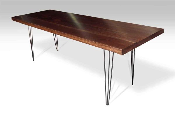 Walnut Top Table with Hair Pin Legs
