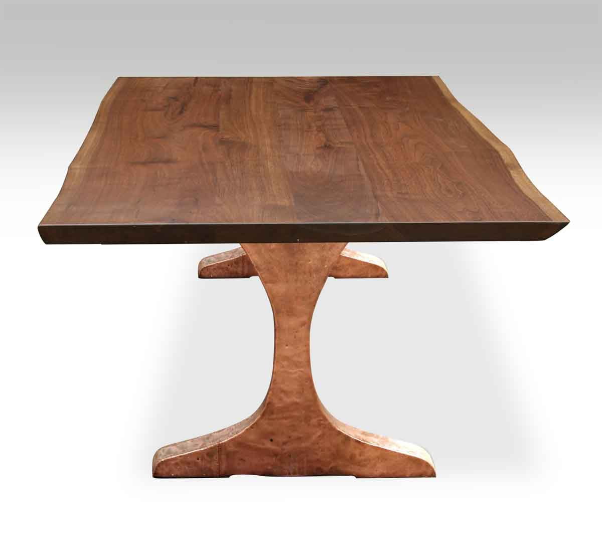 live edge walnut table top with copper clad legs olde good things. Black Bedroom Furniture Sets. Home Design Ideas