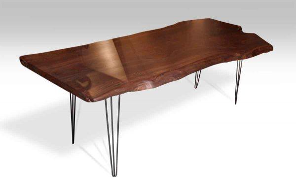 Slab Walnut Table Top with Hair Pin Legs