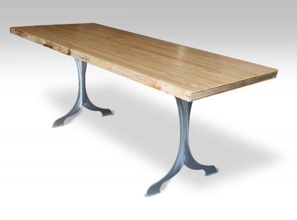Bowling Top Table with Brushed Steel Wishbone Legs