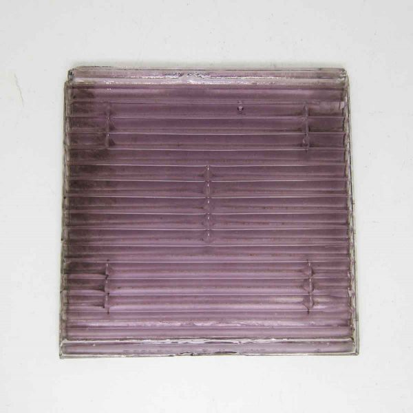 Ribbed Luxfer Purple Glass Tile - Collectors Tiles