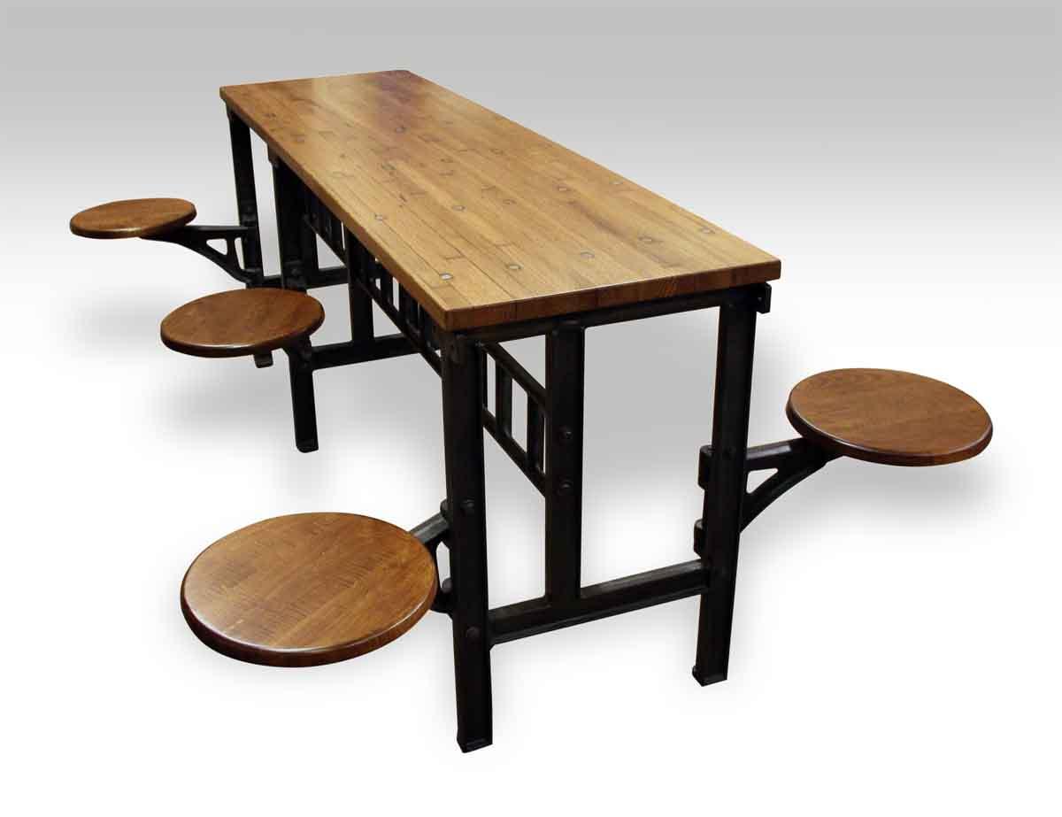 Six Swing Seat Industrial Flooring Table