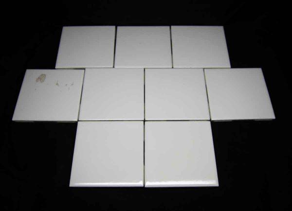 Set of Nine White 4.25 Beveled Edge Tile Set - Wall Tiles