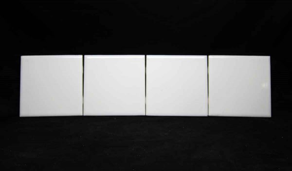 Set of Four 4.25 White Square Tiles - Wall Tiles