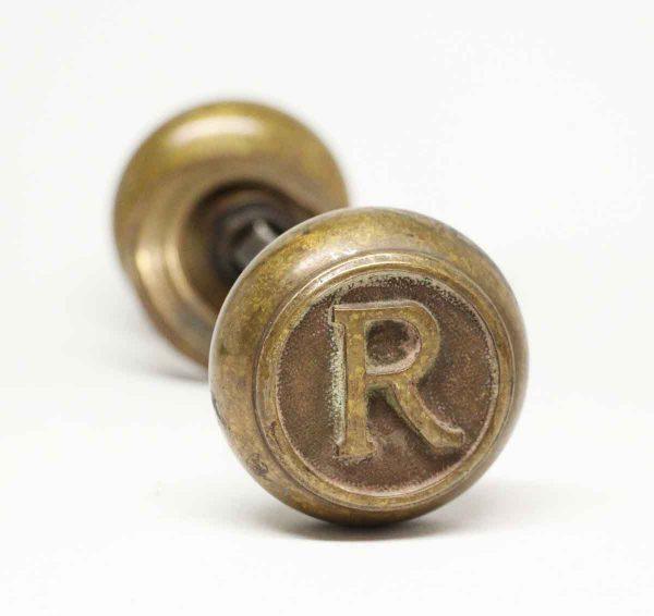 Antique Bronze Emblematic R Knob Set