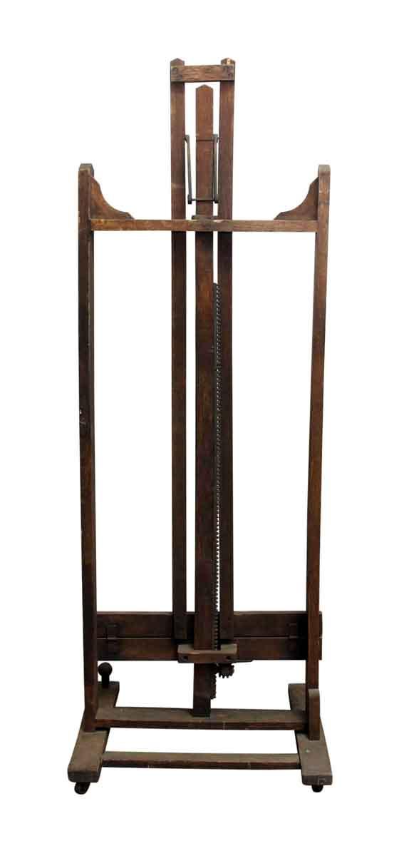 Adjustable Iron & Wood Vintage Easel - Drafting Tables