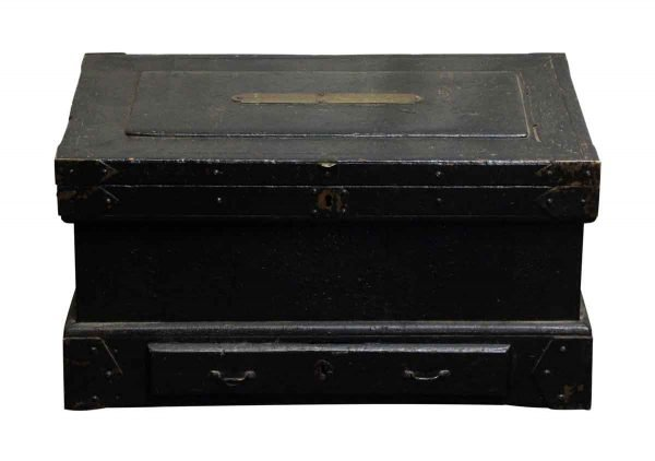 Vintage Tool or Accessories Box With Decorative Iron Straps - Chests