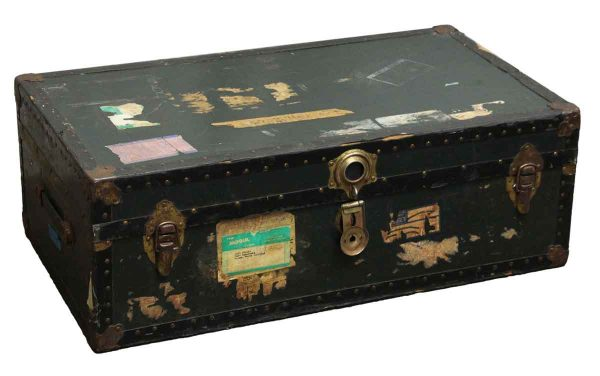 Old Trunk with Bronze Hardware - Trunks