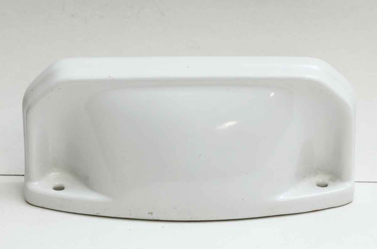 Vintage White Ceramic Wall Mount Bathroom Shelf