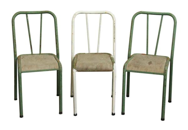 Reclaimed Imported Steel School Chair - Seating