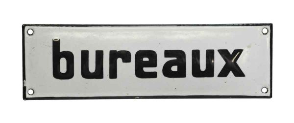 Vintage French Bureaux Office Wall Sign - Vintage Signs