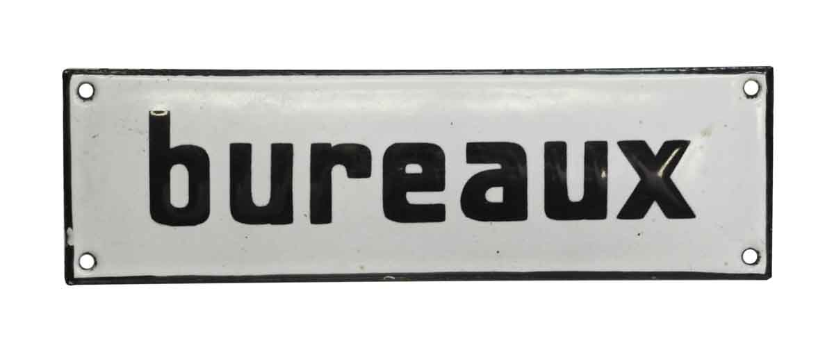 Vintage French Bureaux Office Wall Sign Olde Good Things