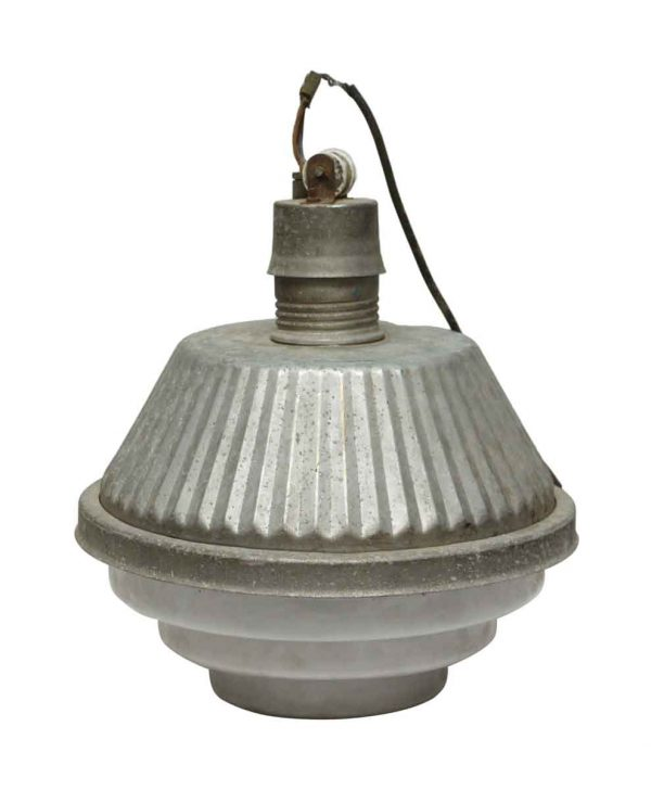 Industrial Fixture with Milk Glass Base - Industrial & Commercial