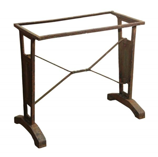 French Art Deco Cast Iron Bistro Table - Table Bases