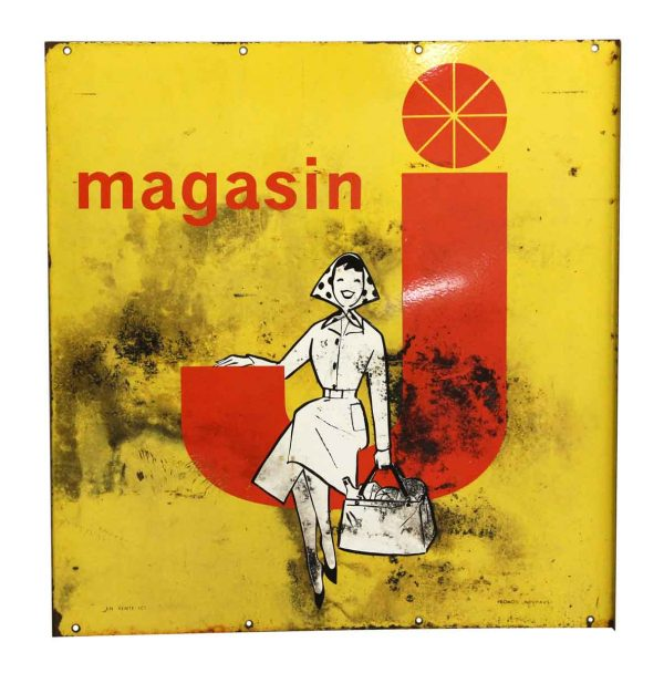 Vintage Magasin Advertisement Metal Sign - Vintage Signs