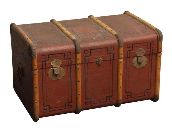 Antique Art Deco Travel Trunk - Trunks