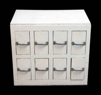 Vintage White Wooden Workshop Cubby
