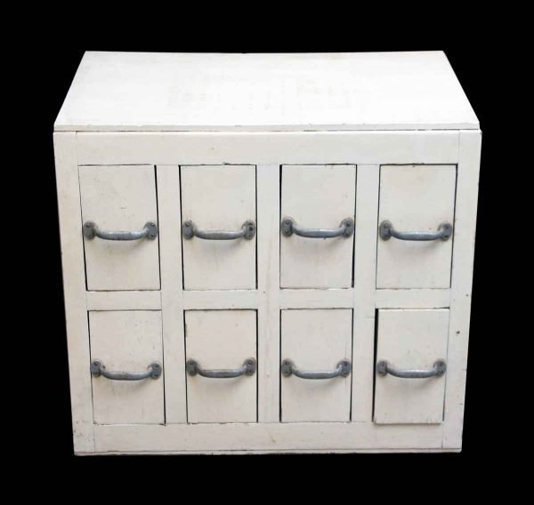 Vintage White Wooden Workshop Cubby - Office Furniture